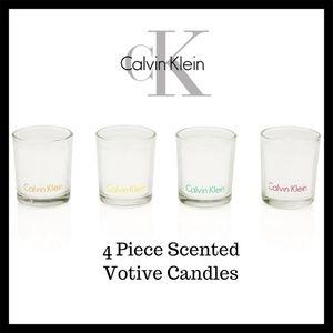 Calvin Klein 4 Piece Scented Votive Candle Set